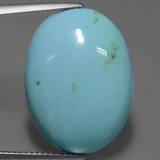 thumb image of 15.1ct Oval Cabochon Blue Green Turquoise (ID: 444449)