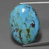 thumb image of 14.7ct Oval Cabochon Blue Turquoise (ID: 444540)