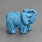thumb image of 279.9ct Carved Elephant Blue Turquoise (ID: 448477)
