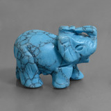 thumb image of 278.5ct Carved Elephant Blue Turquoise (ID: 448478)
