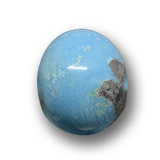 thumb image of 3.7ct Oval Cabochon Blue Turquoise (ID: 458499)