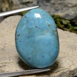 thumb image of 12.9ct Oval Cabochon Blue Turquoise (ID: 475171)