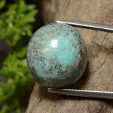thumb image of 22.6ct Oval Cabochon Greenish Blue Turquoise (ID: 499094)
