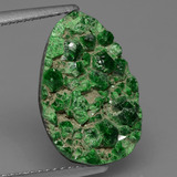 thumb image of 8.1ct Fancy Crystal Cluster Green Uvarovite Garnet Drusy (ID: 433604)