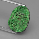 thumb image of 5.5ct Fancy Crystal Cluster Green Uvarovite Garnet Drusy (ID: 433607)