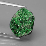 thumb image of 5.9ct Fancy Crystal Cluster Green Uvarovite Garnet Drusy (ID: 433696)