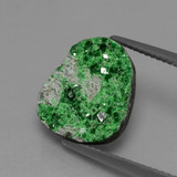 thumb image of 6.3ct Fancy Crystal Cluster Green Uvarovite Garnet Drusy (ID: 433808)