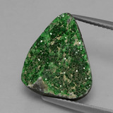 thumb image of 8.9ct Fancy Crystal Cluster Green Uvarovite Garnet Drusy (ID: 433818)