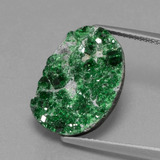 thumb image of 10.1ct Fancy Crystal Cluster Green Uvarovite Garnet Drusy (ID: 434024)
