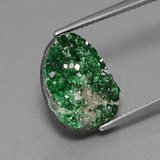 thumb image of 8.7ct Fancy Crystal Cluster Green Uvarovite Garnet Drusy (ID: 434026)