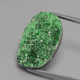 thumb image of 11.6ct Fancy Crystal Cluster Green Uvarovite Garnet Drusy (ID: 434138)