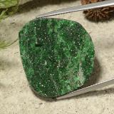 thumb image of 34.4ct Fancy Crystal Cluster Green Uvarovite Garnet Drusy (ID: 485970)