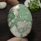 thumb image of 79.6ct Oval Cabochon Green Variscite (ID: 471116)