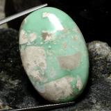 thumb image of 40.4ct Ovale cabochon Verde multicolore Variscite (ID: 474666)