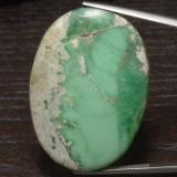 thumb image of 60.1ct Ovale cabochon Medium Light Green Variscite (ID: 475085)