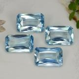 thumb image of 0.7ct Octagon / Scissor Cut Deep Maya Blue Zircon (ID: 287871)