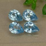 thumb image of 4.1ct Pear Facet Blue Zircon (ID: 292622)