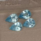 thumb image of 3.7ct Pear Facet Blue Zircon (ID: 292657)