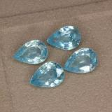 thumb image of 3.6ct Pear Facet Blue Zircon (ID: 292659)
