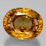 thumb image of 18.7ct Oval Facet Yellow Golden Zircon (ID: 310269)