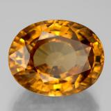 18.67 ct Oval Facet Yellow Golden Zircon Gem 15.86 mm x 12.5 mm (Photo B)