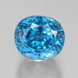 thumb image of 7.4ct Oval Facet Blue Zircon (ID: 317050)