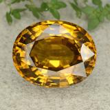 thumb image of 47.4ct Oval Facet Yellow Golden Zircon (ID: 317731)