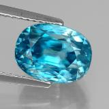 thumb image of 6.6ct Oval Facet Blue Zircon (ID: 327721)