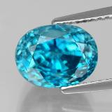 thumb image of 6.3ct Oval Facet Blue Zircon (ID: 327722)