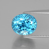 thumb image of 3.2ct Oval Facet Blue Zircon (ID: 337758)