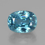 thumb image of 7.2ct Ovale facette Bleu Suisse Zircon (ID: 351026)