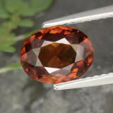 thumb image of 2.3ct Oval Facet Red Orange Zircon (ID: 357123)