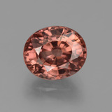 thumb image of 3.5ct Oval Facet Rose Zircon (ID: 374884)