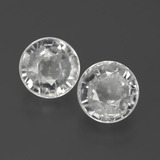 thumb image of 3ct Round Facet White Zircon (ID: 385893)