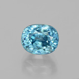 thumb image of 4.2ct Oval Facet Blue Zircon (ID: 398408)