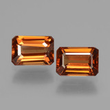 thumb image of 3.1ct Octagon Facet Orange Zircon (ID: 429718)