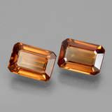 1.52 ct Octagon Facet Orange Zircon Gem 7.25 mm x 5 mm (Photo B)