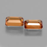 1.52 ct Octagon Facet Orange Zircon Gem 7.25 mm x 5 mm (Photo C)