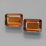thumb image of 3.1ct Octagon Facet Orange Zircon (ID: 429721)