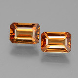 thumb image of 2.9ct Octagon Facet Orange Zircon (ID: 429723)