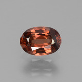thumb image of 0.9ct Oval Facet Orange Zircon (ID: 429997)