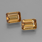 thumb image of 1.7ct Octagon Facet Golden-Peach Zircon (ID: 430059)