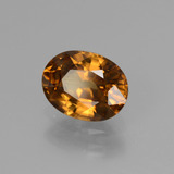 2.04 ct Oval Facet Golden Orange Zircon Gem 8.18 mm x 6.2 mm (Photo B)