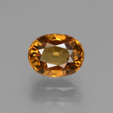 thumb image of 2.4ct Oval Facet Golden Orange Zircon (ID: 430107)
