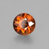1.85 ct Diamond-Cut Dark Orange Zircon Gem 7.12 mm  (Photo B)