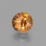 1.93 ct Diamond-Cut Golden Orange Zircon Gem 7.06 mm  (Photo B)