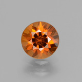 thumb image of 2.1ct Diamond-Cut Orange Zircon (ID: 432069)