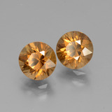 1.88 ct Diamond-Cut Medium Orange Zircon Gem 6.92 mm  (Photo B)