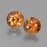 thumb image of 1.6ct Diamond-Cut Medium Orange Zircon (ID: 434541)