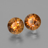 2.07 ct Diamond-Cut Golden Orange Zircon Gem 7.16 mm  (Photo B)